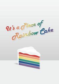 這是一塊彩虹蛋糕