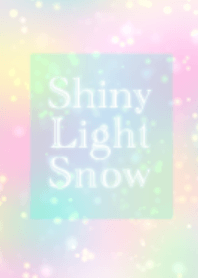 Shiny light snow