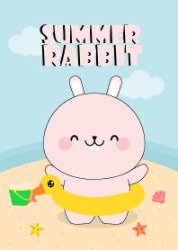 Summer Cute Pink Rabbit