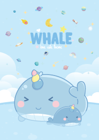 Whale Unicorn Seaside Pastel Blue
