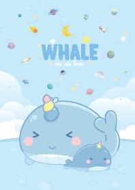 Whale Unicorn Seaside Pastel Blue