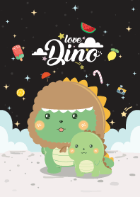 Dinosaur Love Black