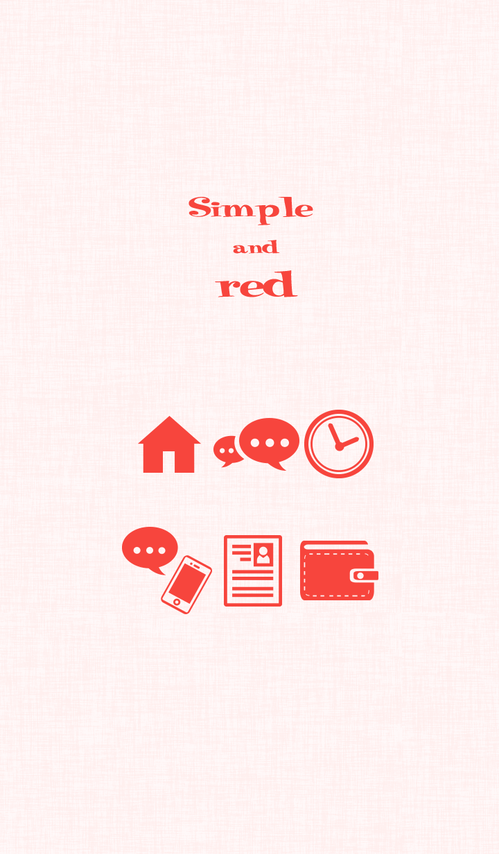 Simple red icon