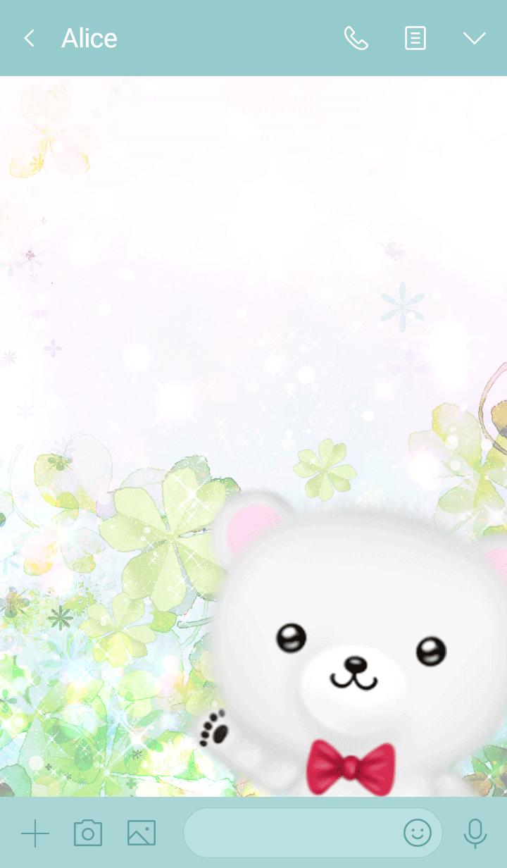 Kazuko Polar bear Spring clover