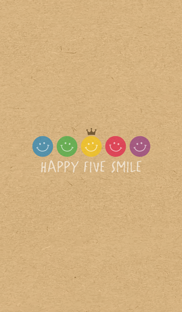HAPPY CROWN SMILE -5color KRAFT- 20
