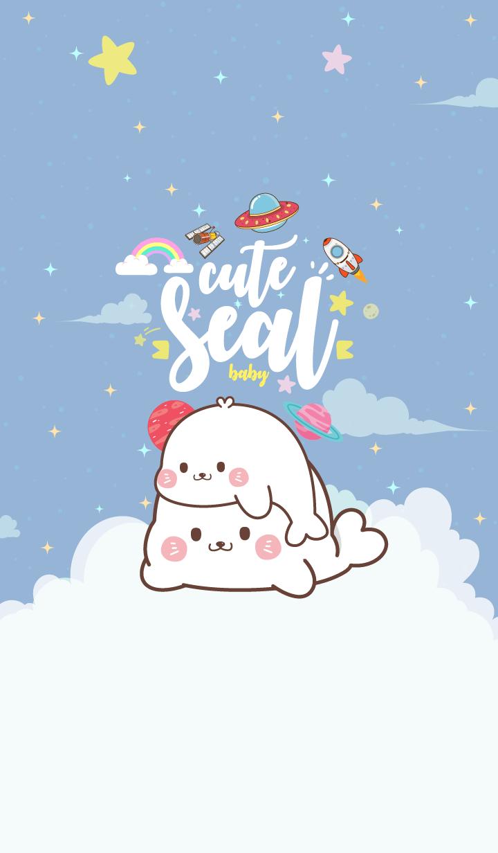 Seal Baby Galaxy Blue