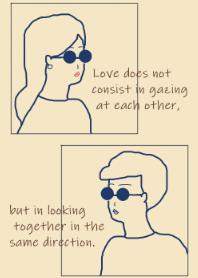 Sunglasses Boy and Girl- navy beige