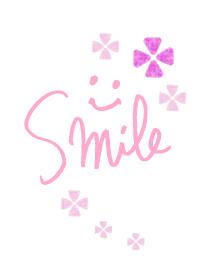 Smile - pink flower-joc