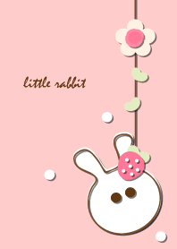 little rabbit with little strawberry 6