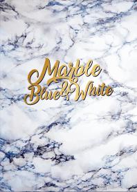 Marble Blue&White