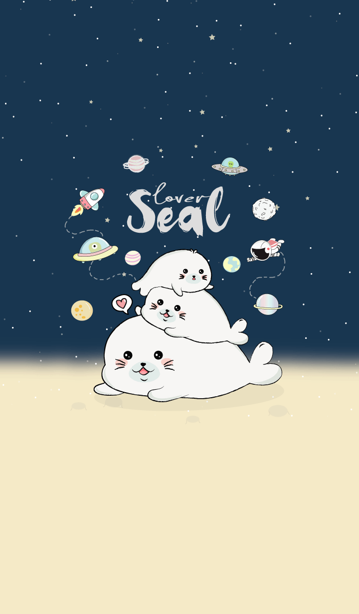 Seal Space Lover. (Navy)