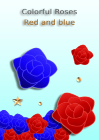 Colorful Roses<Red and blue>