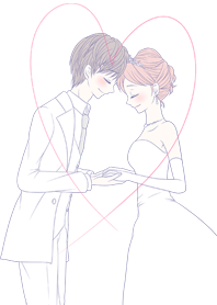 Fluffy wedding.(Fluffy couple.)