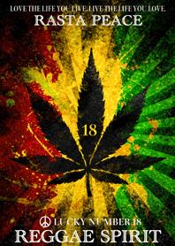 Rasta peace reggae spirit Lucky number18