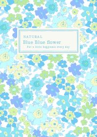 Blue Blue flower World Premium