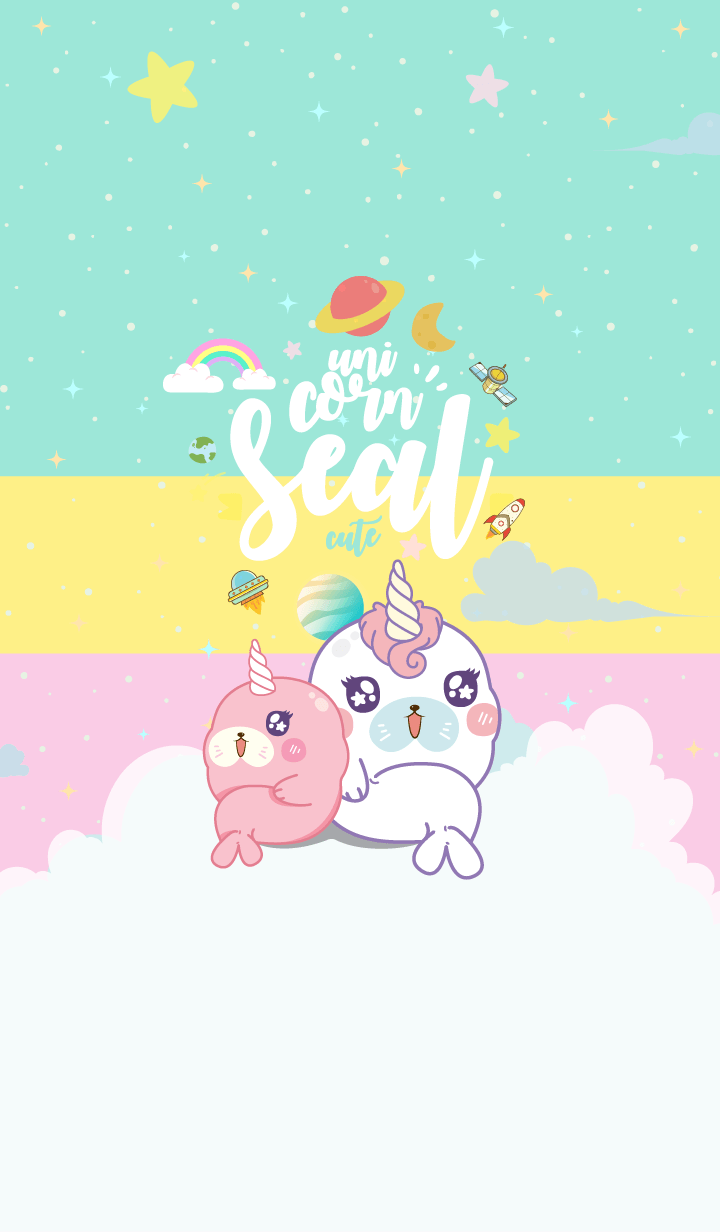 Seal Unicorn Galaxy Cute 3Color