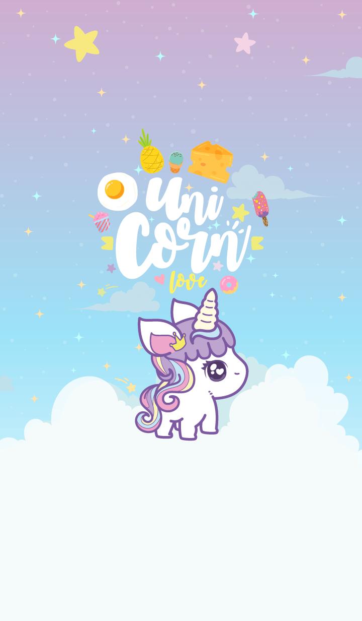 Unicorn Cutie Violet Pastel