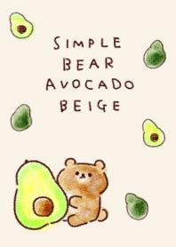 簡單 熊 鱷梨 米色