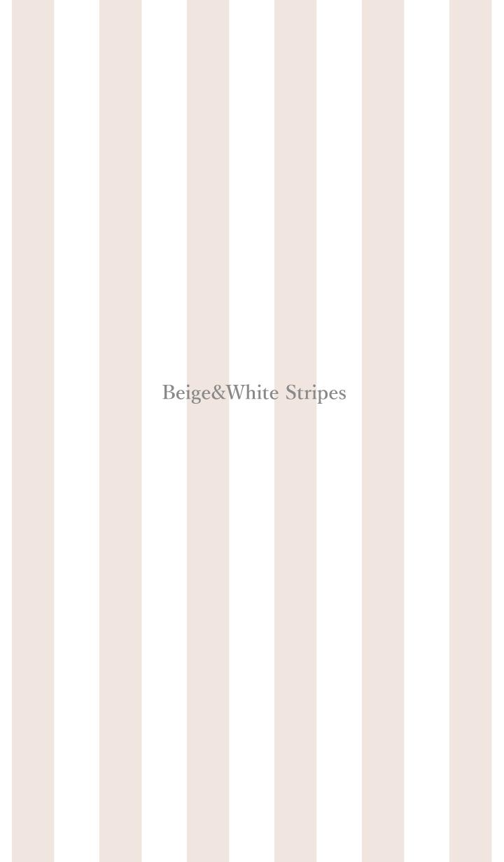 Beige&White Stripes