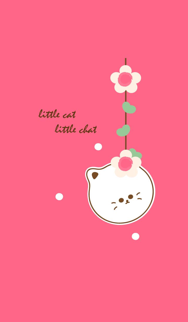 little cat with little flower 14
