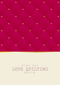 LOVE QUILTING WINE RED 3 #2020