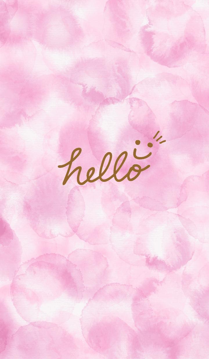 Smile - aquarelle pink28-