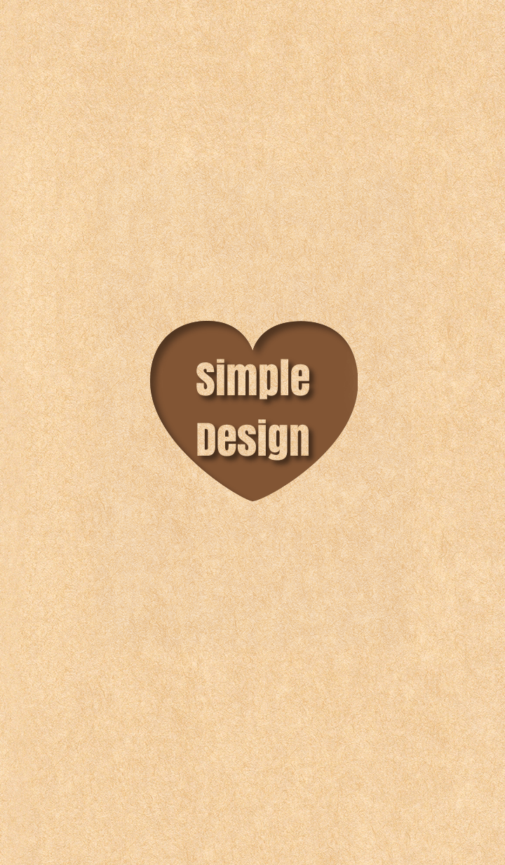 Craft Simple Design Heart Brown ver.