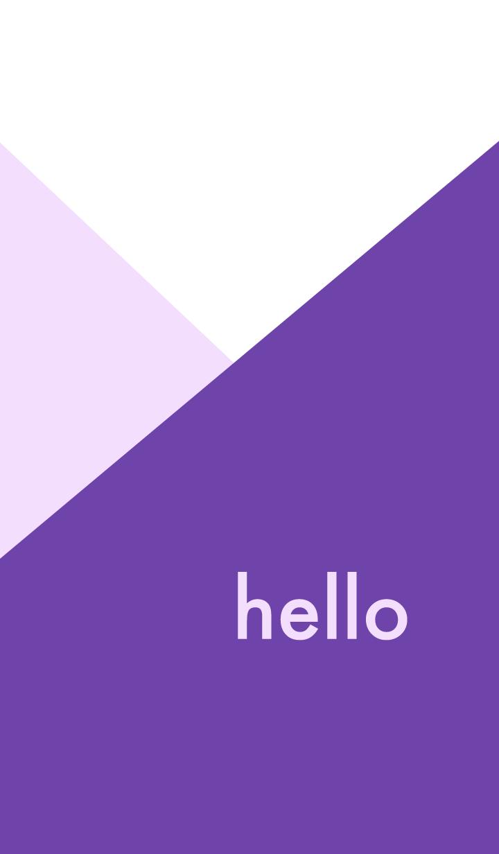 hello - バイオレット