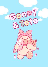 ธีมไลน์ Gonny and Toto