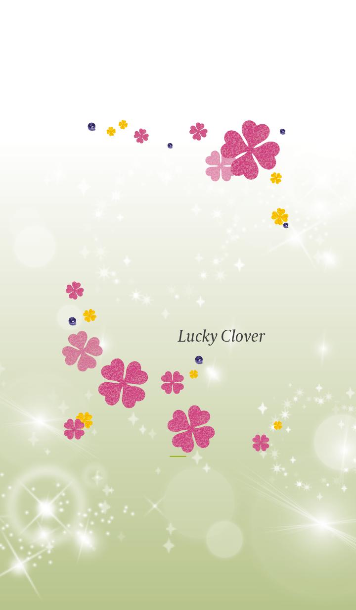 Yellow Green : Lucky pink clover