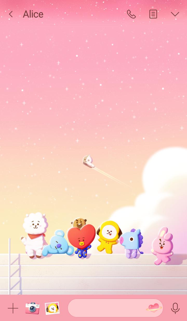 BT21 Pink Stars