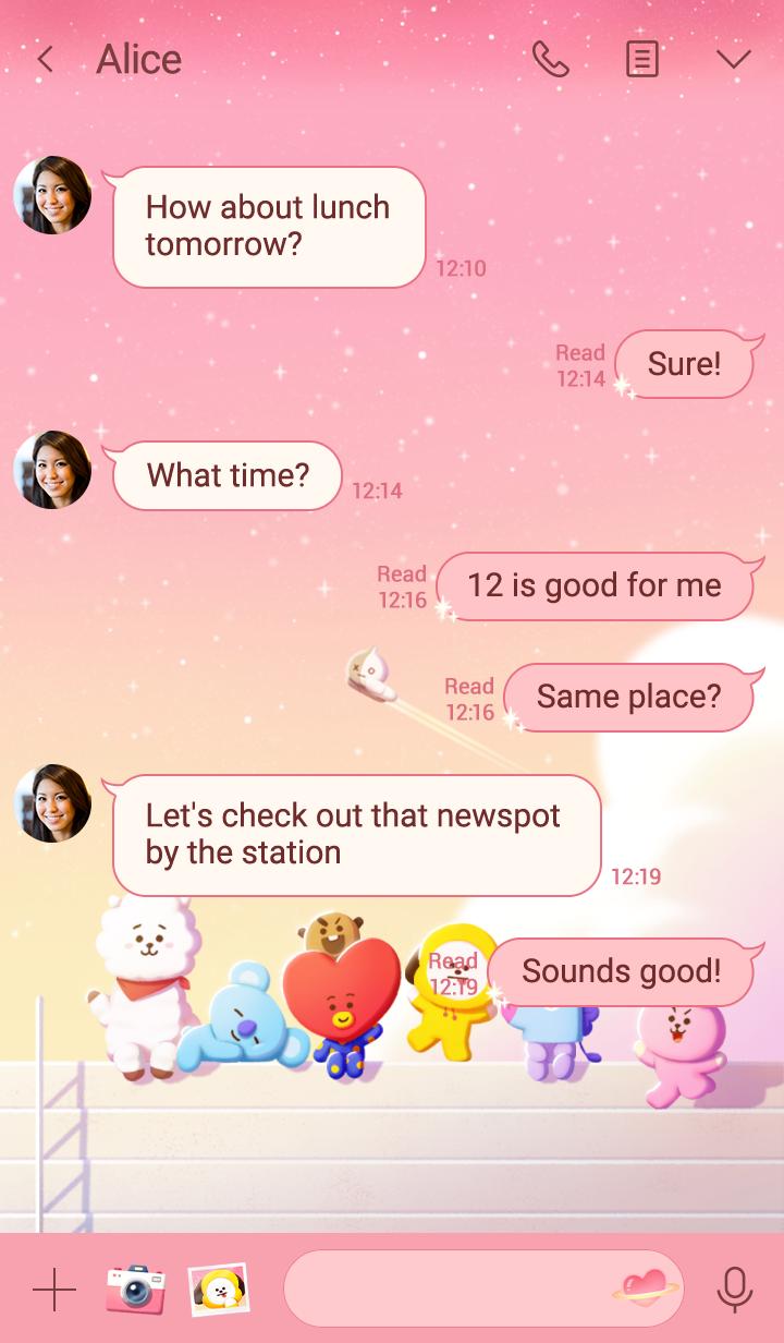 BT21 핑크 스타