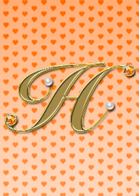 "ธีมไลน์ alphabet series ""H""~Orange~"