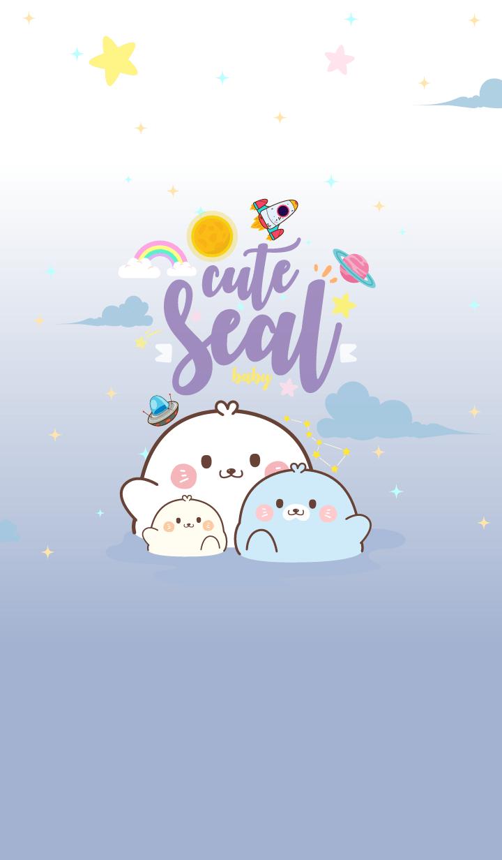 Seal Baby Galaxy Sea
