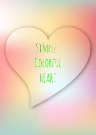 Simple colorful heart 10.