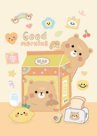 Good morning : Bear cute (light brown)