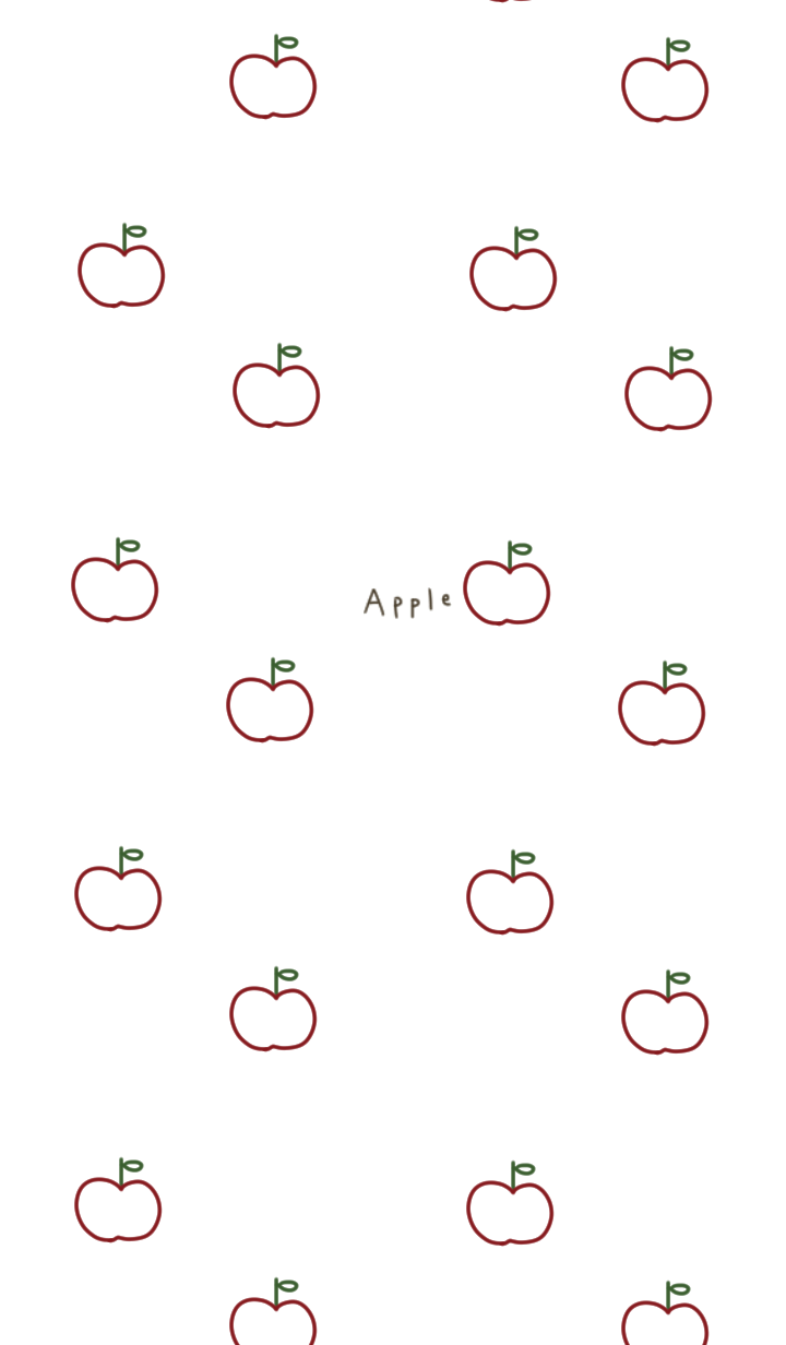 Line drawing. Full of apples.