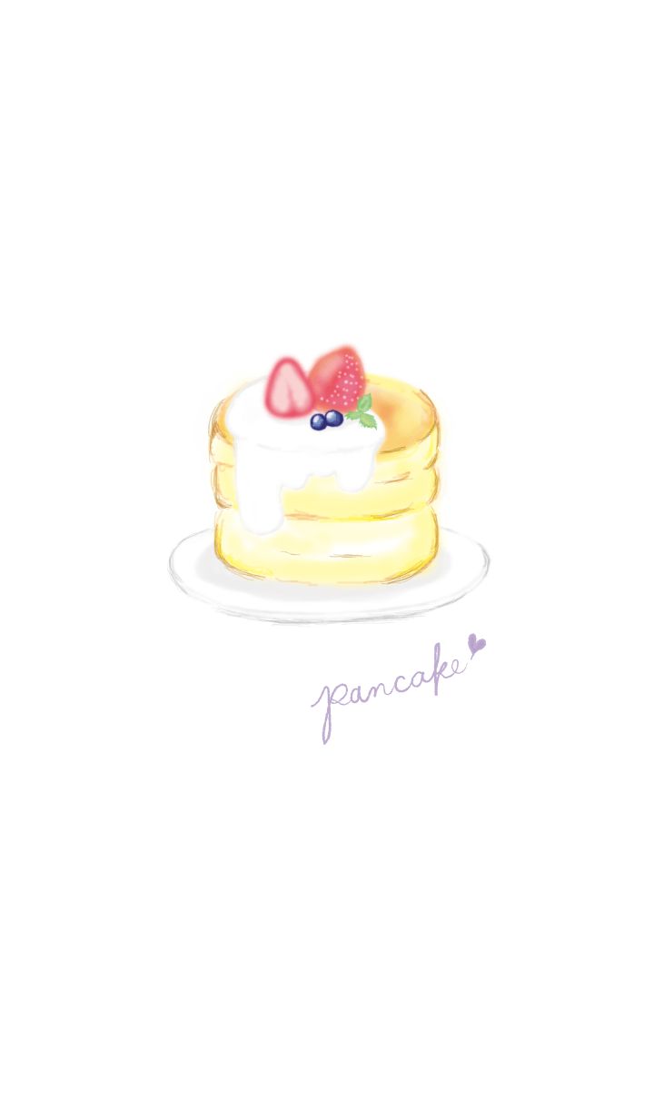 Strawberry pancake:watercolor painting*