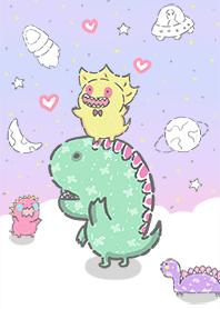 my little dinosaur in galaxy
