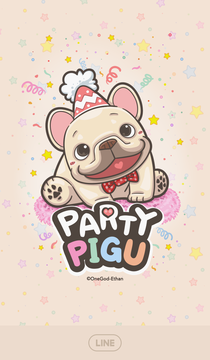 French Bulldog PIGU-Happy Party