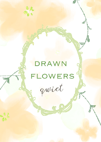 Drawn flowers quiet