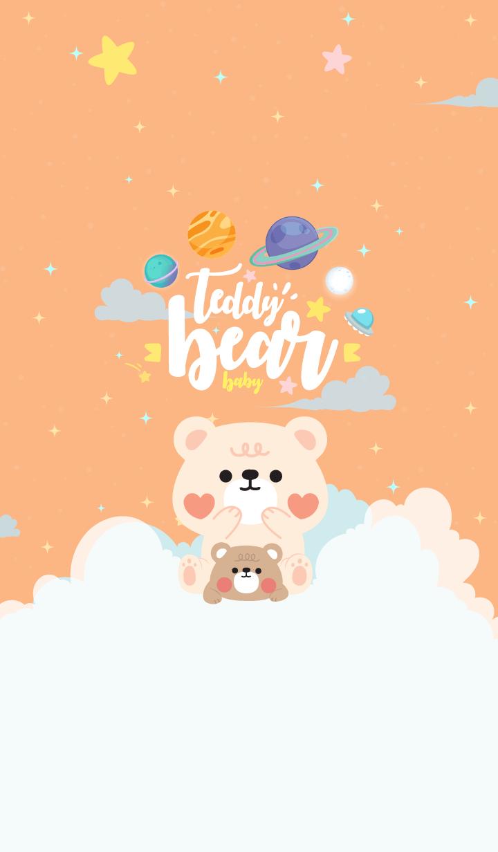 Teddy Bear Galaxy Orange