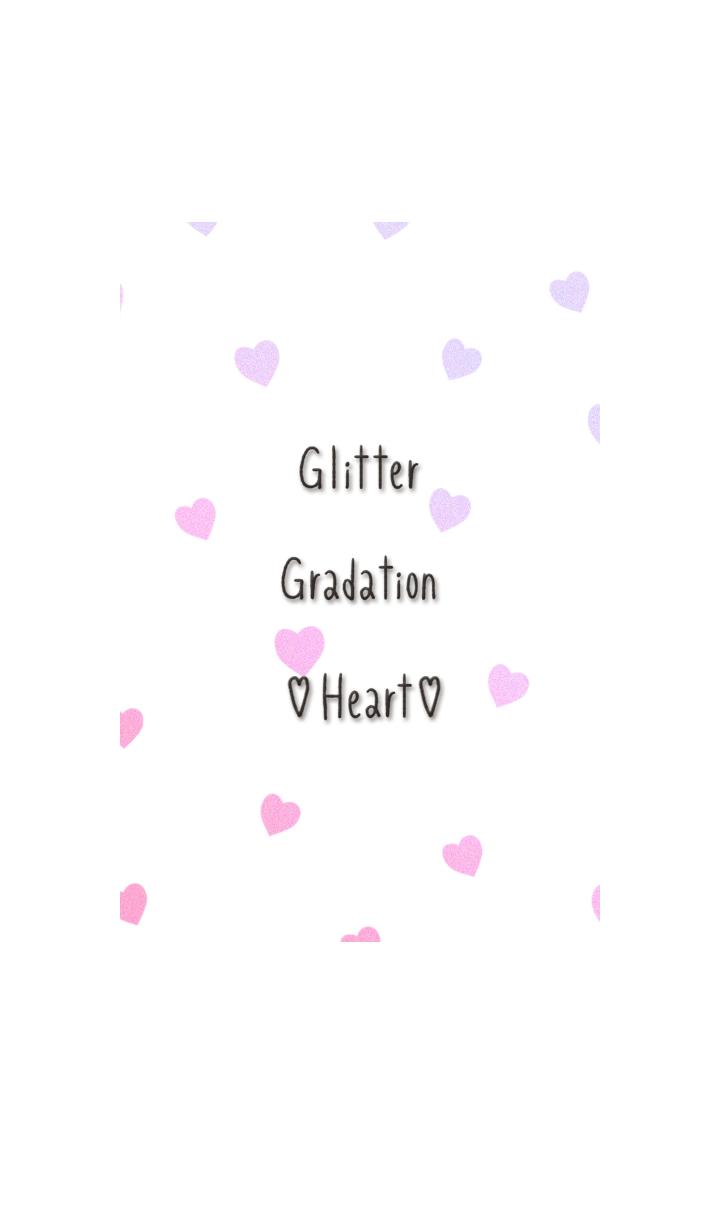 Glitter Gradation Heart