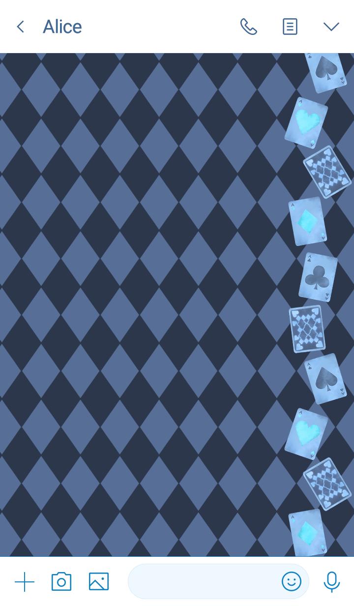 Diamond pattern -Gothic blue-