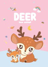 Deer Cutie Galaxy Pink