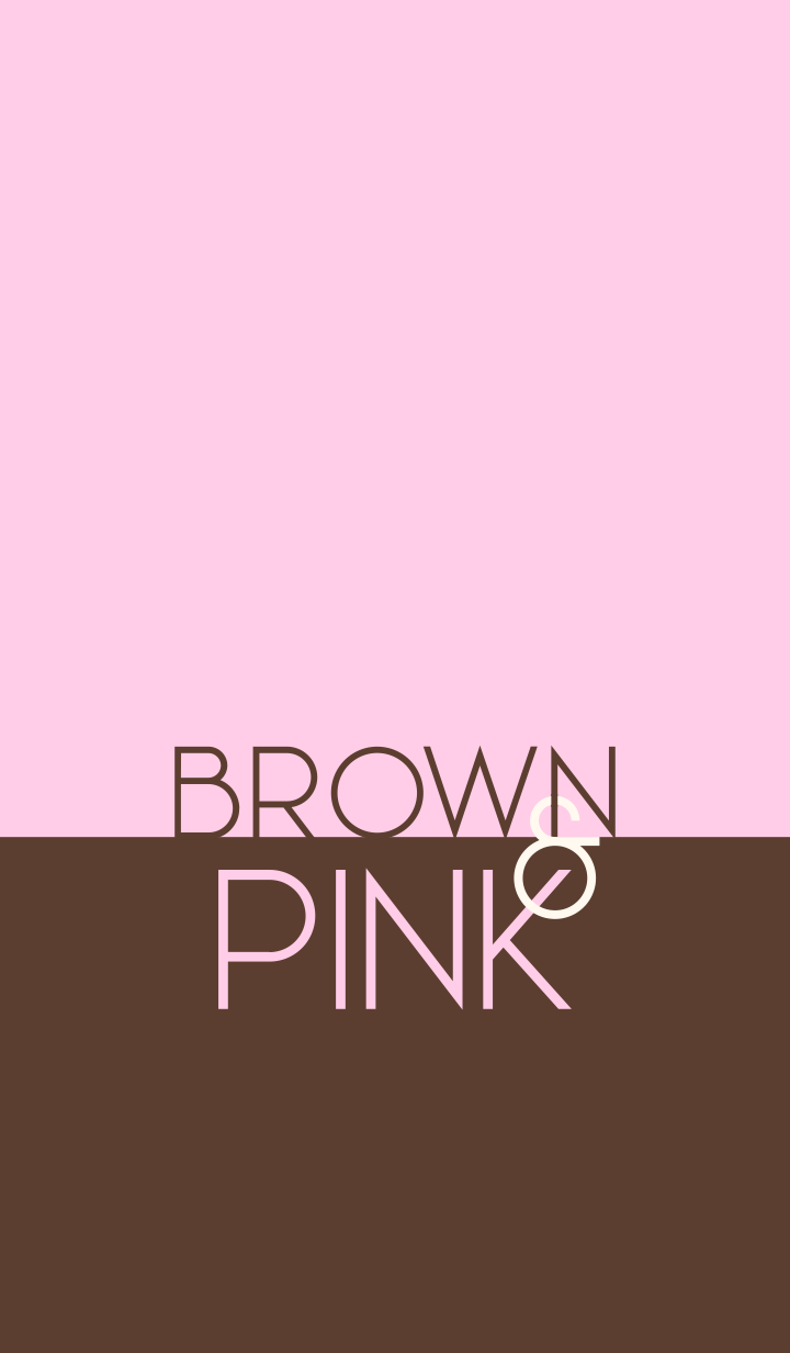 Brown & Pink (simple icon)