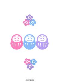 3colors Daruma