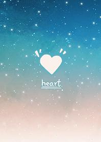 星空愛心-浪漫漸層 海藍色