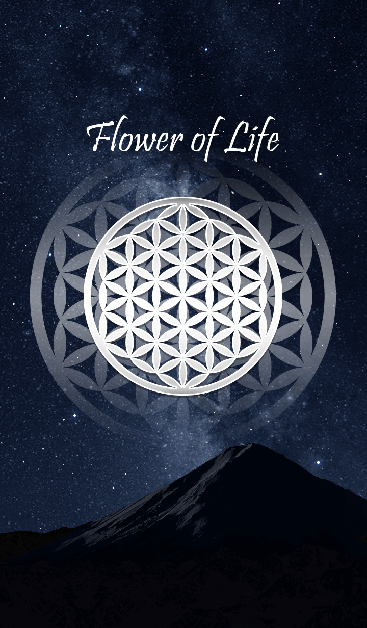 Flower of Life in the Starry Sky