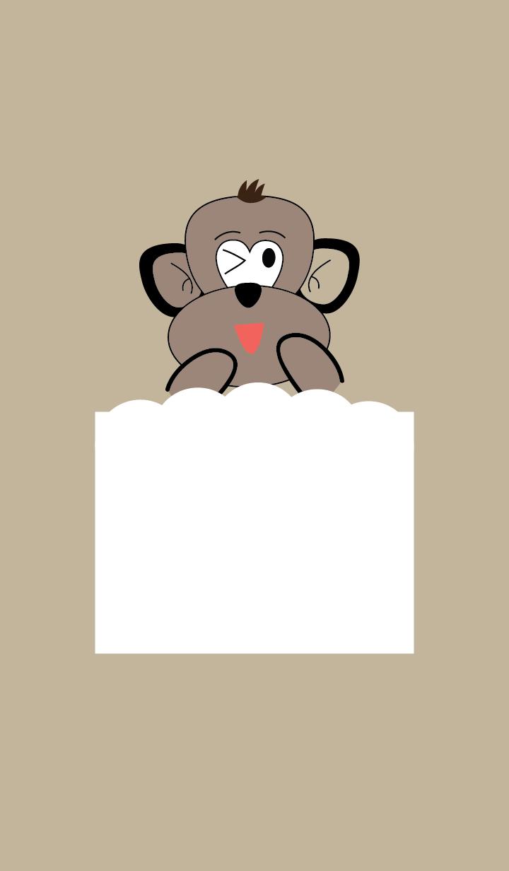 Simple cute monkey theme v.2
